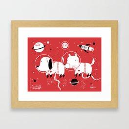 Astro dogs Framed Art Print
