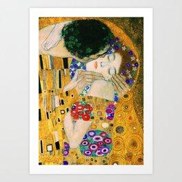 The Kiss by Gustav Klimt Kunstdrucke