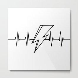 Bowie Heartbeat Metal Print