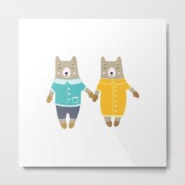 Cute pair of bears Metal Print