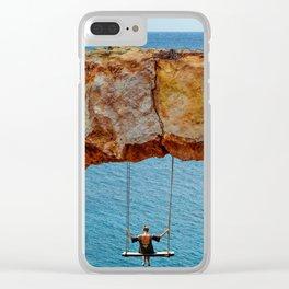 Wander Woman Rock Swing Clear iPhone Case