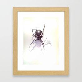 Ballpoint pen Black Widow Drawing Framed Art Print