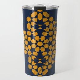 Zellige - blue and yellow Travel Mug