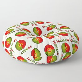 Portugal flag pattern Floor Pillow