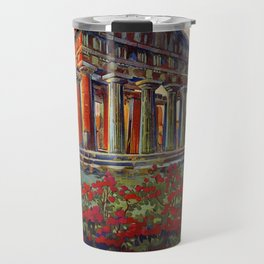 Paestum ancient Greek temple Travel Mug