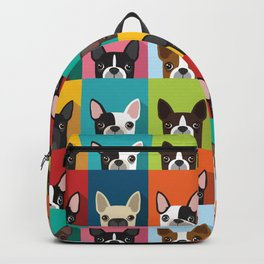 Boston Terrier Pop Art Pattern Backpack