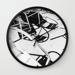 Summer Sunlit Shadow Chair Pattern Wall Clock