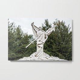 Death - Skeleton in forest Metal Print