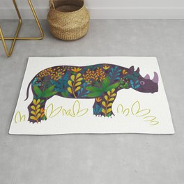 Blooming series: rhino Rug