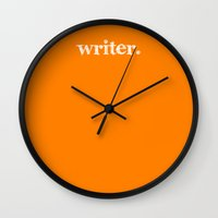 writer Wall Clocks featuring writer. by Seek