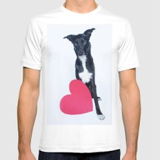 Little Valentine MEDIUM Mens Fitted Tee White