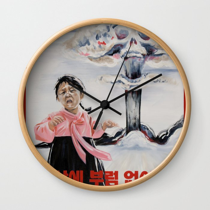 Nuclear Warfare in North Korea Wall Clock