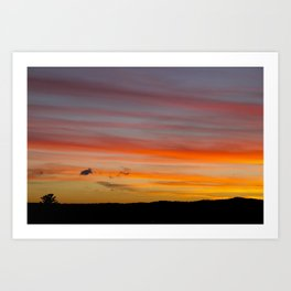 Sunset Lines Art Print