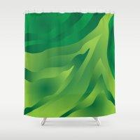 camo Shower Curtains featuring Camo Green by Ramon J Butler-Martinez