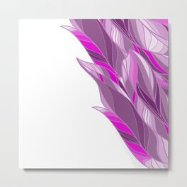 Abstract lilac feather pattern Metal Print