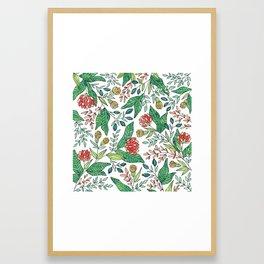 Wildflower Pattern - Full Color Framed Art Print