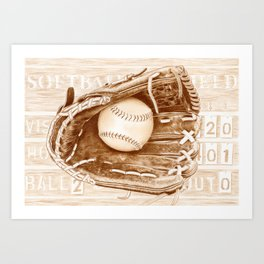 Softball Art Print