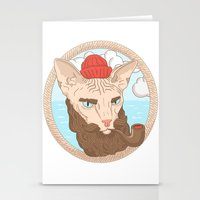 sailor Stationery Cards featuring Sailor by Fresco Umbiatore