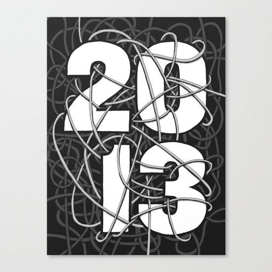 2013 Commemorative Poster Canvas Print