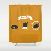 hamster Shower Curtains featuring The Daily Tail Hamster by ellis
