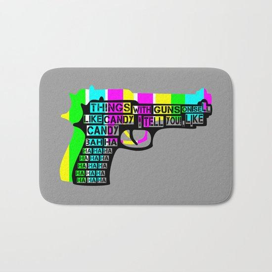 Guns and Candy Bath Mat