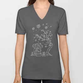 Meanwhile, under the Tree Unisex V-Neck