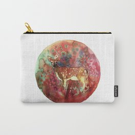 watercolor deer Carry-All Pouch