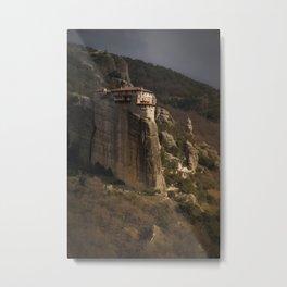 monastery in Meteora Metal Print