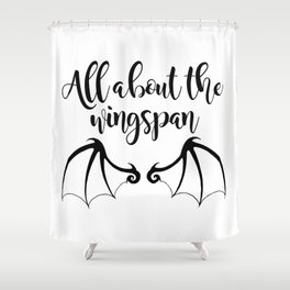 All about the wingspan white design Shower Curtain