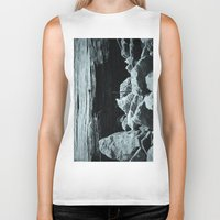 hiking Biker Tanks featuring Let's Go Hiking by cjahwaan