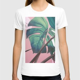 Monsteras on Pink II T-shirt