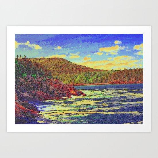 day at the lake  Art Print