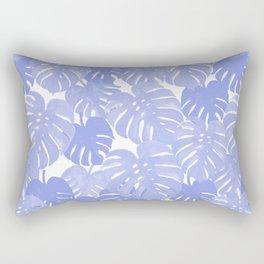 Pativa - pastel monstera palm leaves tropical summer palms Rectangular Pillow