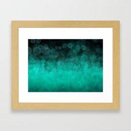 Aqua Cyan Spotted Framed Art Print