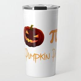 Pumpkin Pi Halloween Math Circle Ghost Costume Travel Mug