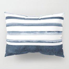 Watercolor Stripes Pattern Pillow Sham