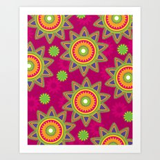 Moroccan Flower Wine Art Print