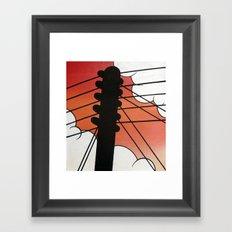 Cloud Pole Framed Art Print