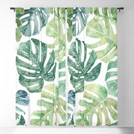 Tropical leaves Monstera leaves Jungle leaves Palm leaves Blackout Curtain