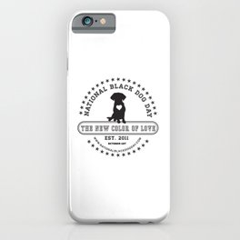 Black Dog Day Official Logo iPhone Case