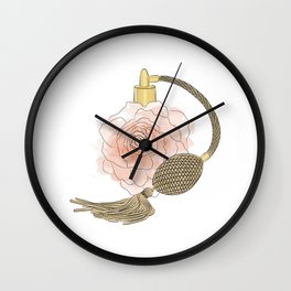 Golden Rose Perfume Wall Clock