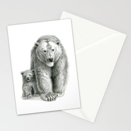 Polar bear and cub SK041 Stationery Cards