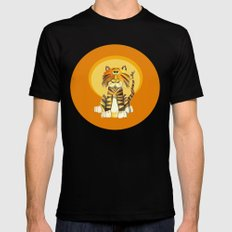Tabby the Tiger Black Mens Fitted Tee MEDIUM