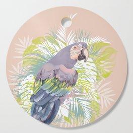 Parrot in the jungle Cutting Board