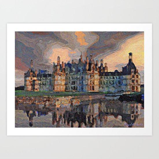 Chambord Castle France Art Print