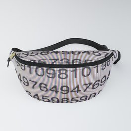 Numbers on a computer screen Fanny Pack