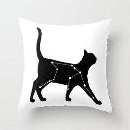 Aquarius Cat Throw Pillow