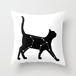 Aquarius Cat Throw Pillow