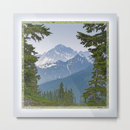 MOUNT LARRABEE FROM HEATHER MEADOWS Metal Print