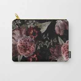 Dutch Vintage Midnight Roses Bouquets Pattern Carry-All Pouch